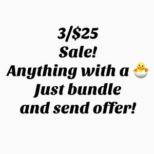 Bundle 3 items with a 🐣 emoji and send offer!